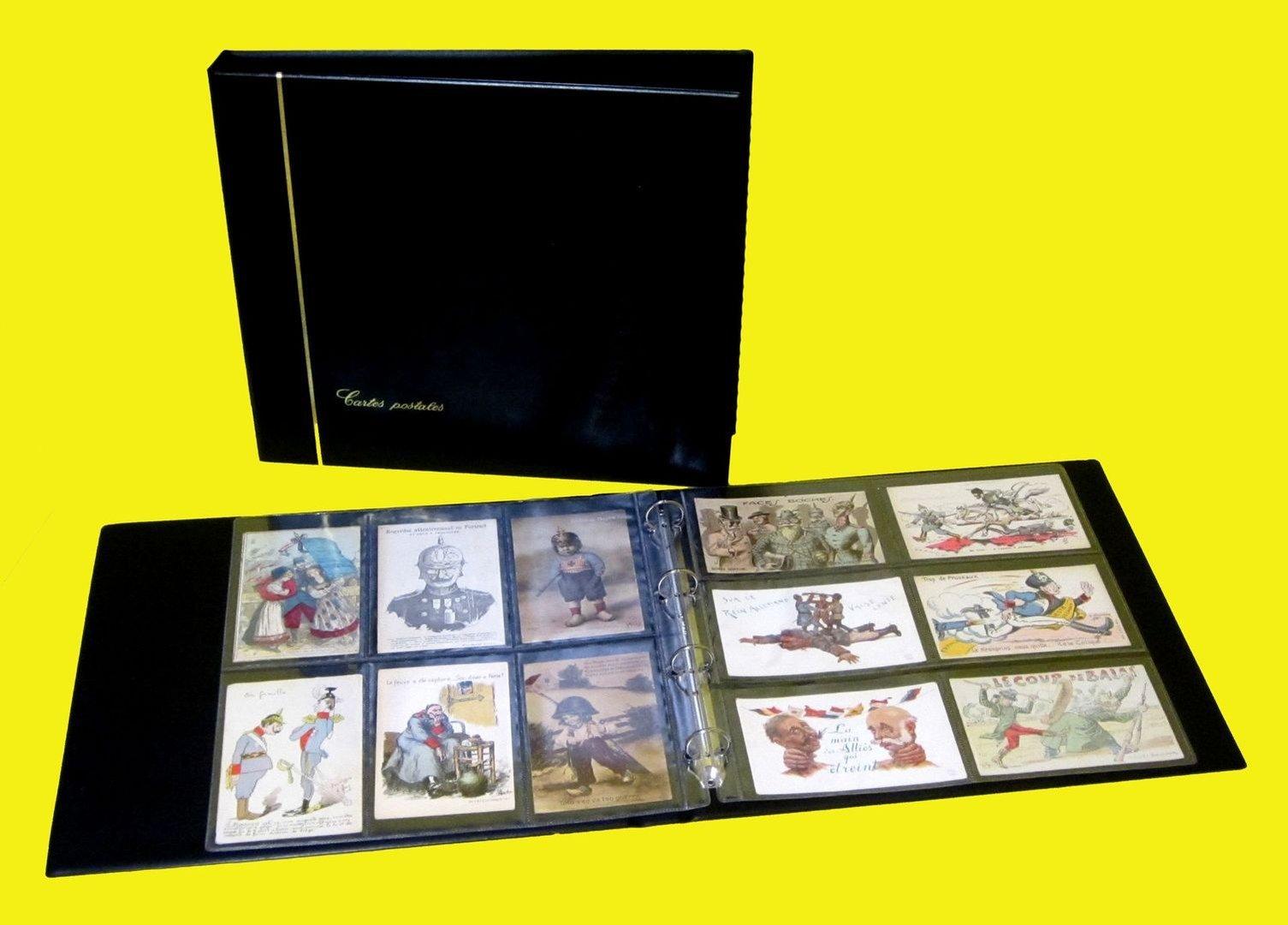 Album SAFE noir + 25 feuilles transparentes Cartes Postales